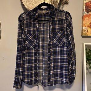 """Express """"The Portofino Shirt"""" blue plaid"""